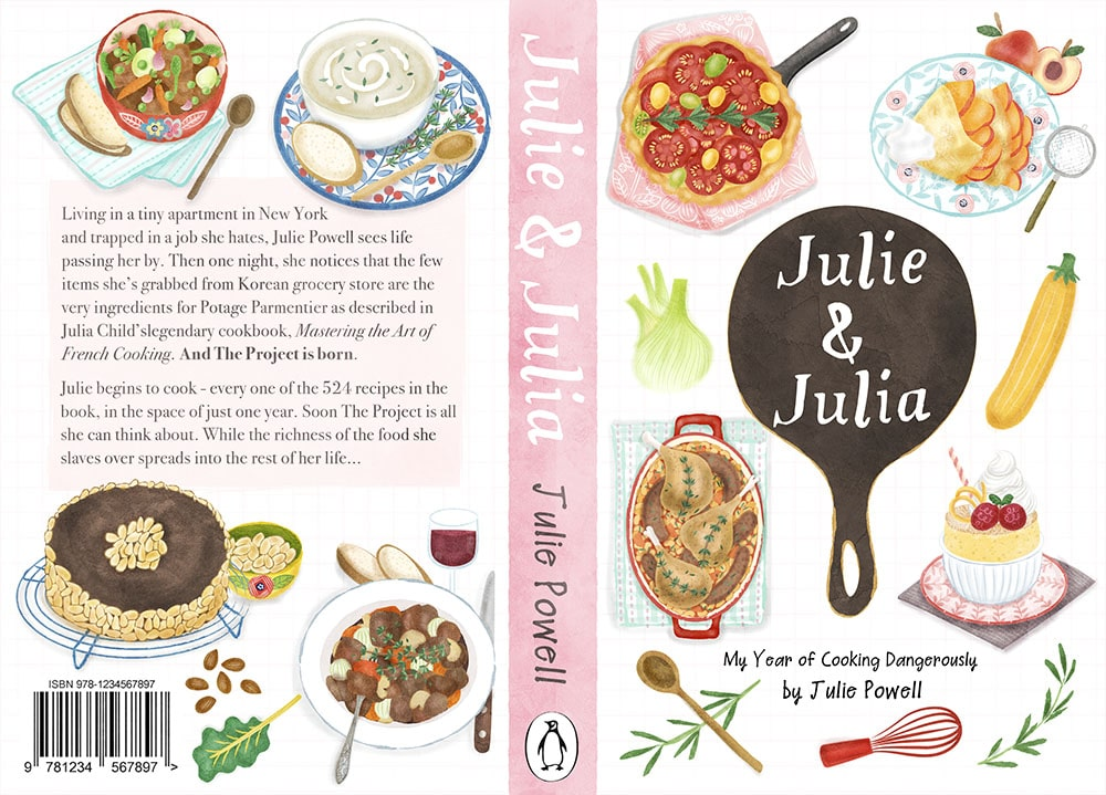 Food Book Cover Quest : Julie and julia book cover design illustrations liv