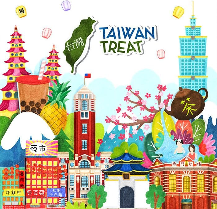 Taiwan Treat Packaging Design and Illustrations