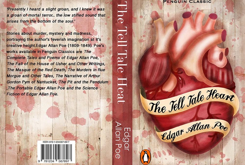 The Tell Tale Heart Book Cover Design Illustration