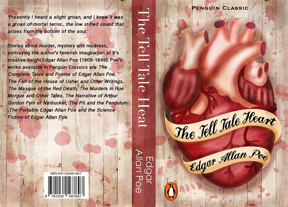 the tell tale heart book cover design illustration liv