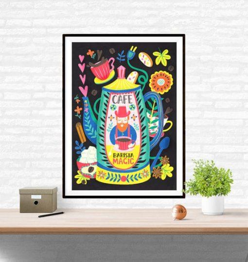 Barista Magic Coffee Poster