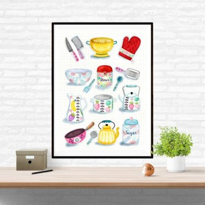 Beautiful Kitchenware Poster