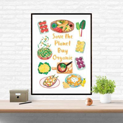 organic food poster