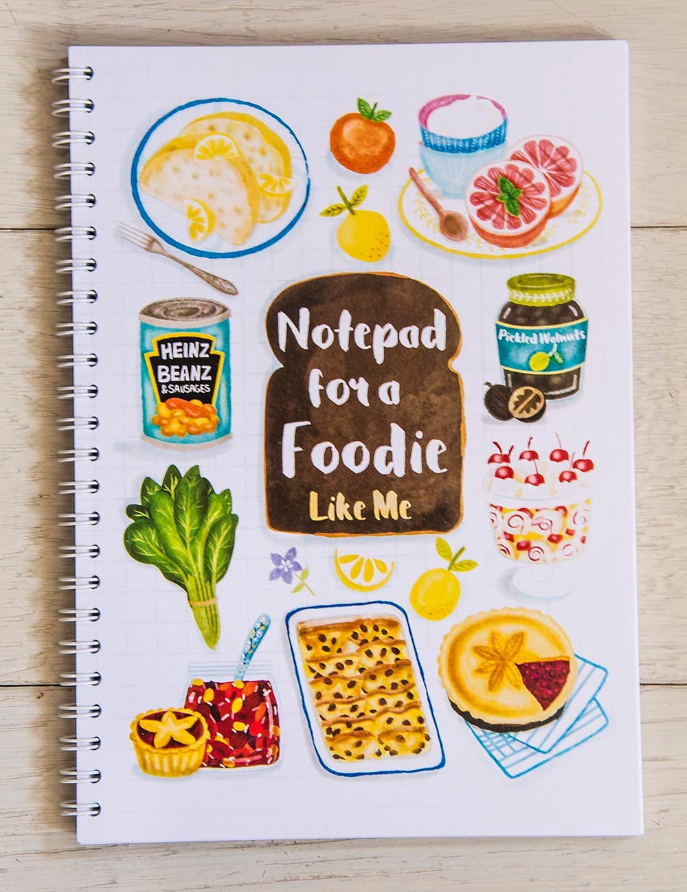 Personalized Notebook - Notepad Cover - Notebook, Food ...