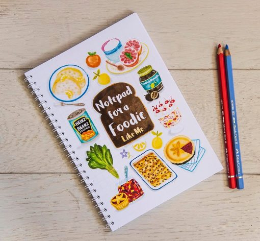 Personalized Notebook - Notepad Cover - Notebook, Food Lovers Pad, Note Pad