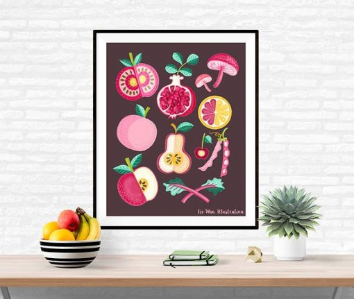 pink food poster