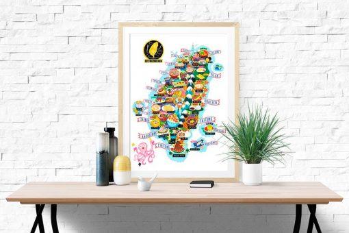 taiwan street food map