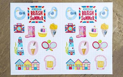 Great British Summer Sticker Set