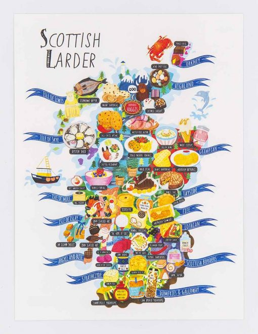 scottish larder postcard