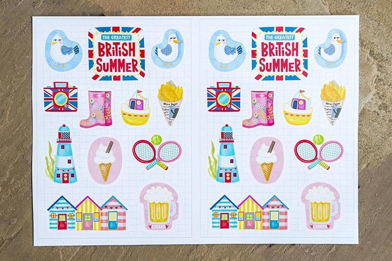 The greatest british summer sticker set 11 stickers a5 sticker sheet summer travel