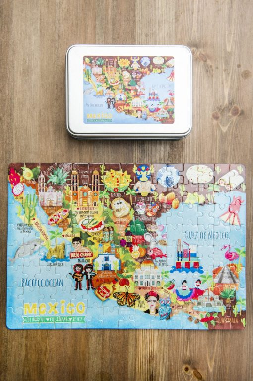 Mexico Map Illustration Jigsaw Puzzles 120 pieces
