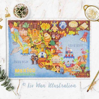 mexico map jigsaw