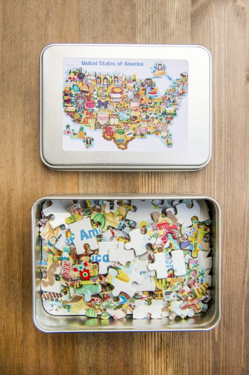 USA Map Illustration Jigsaw Puzzles 120pieces