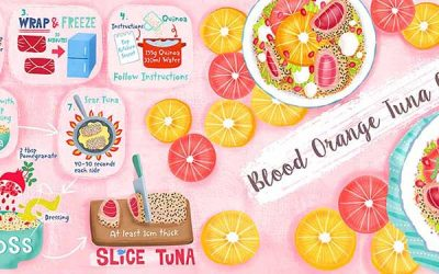 Blood Orange Quinoa Salad Recipe Illustration