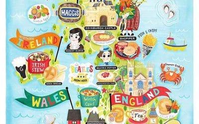 UK Map Illustration