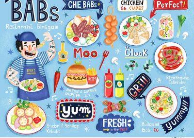 Childrens Illustrated Menus