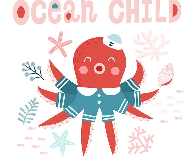 Ocean Child Pattern Design
