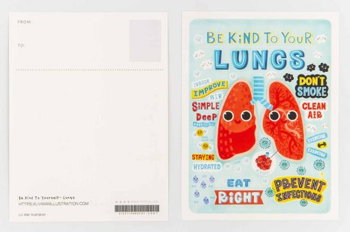 be kind to your lungs postcard