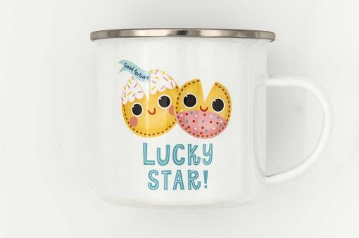 lucky star enamel mug