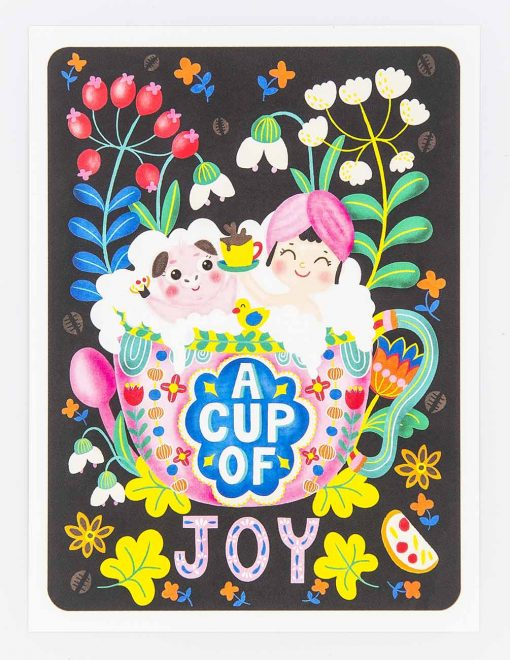 a cup of joy postcard