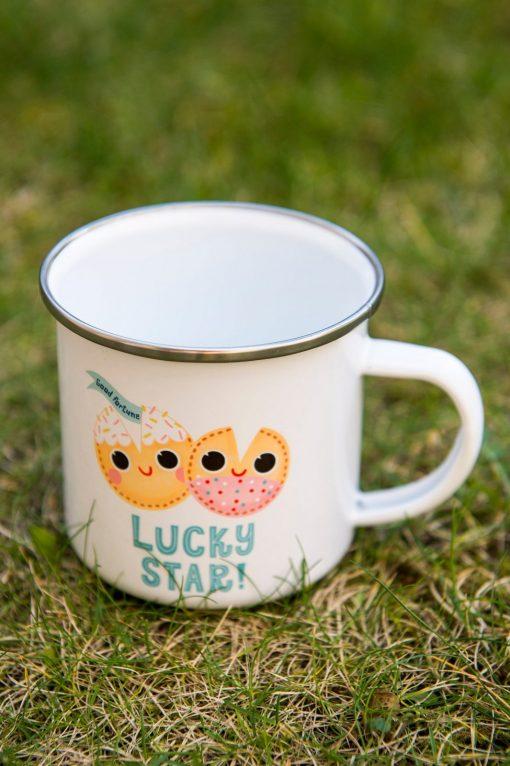 Fortune Cookies Mug - Cute Fun Enamel Mug