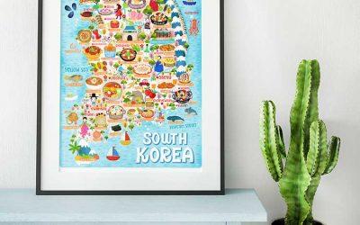 South Korea Illustrated Map