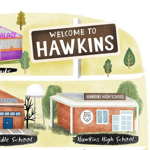 Stranger Things Map - Map of Hawkins Poster