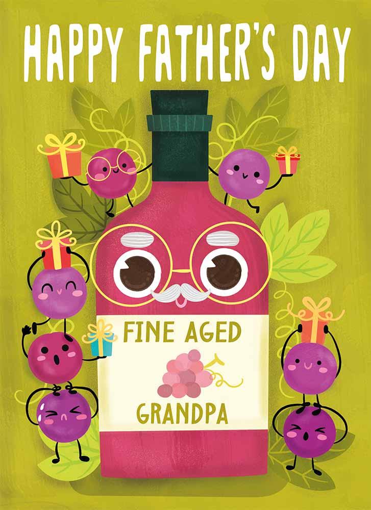 fine aged grandpa card