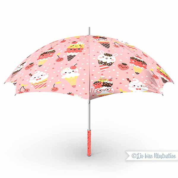 ice cream umbrella