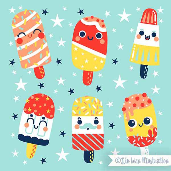 ice lolly pattern illustration