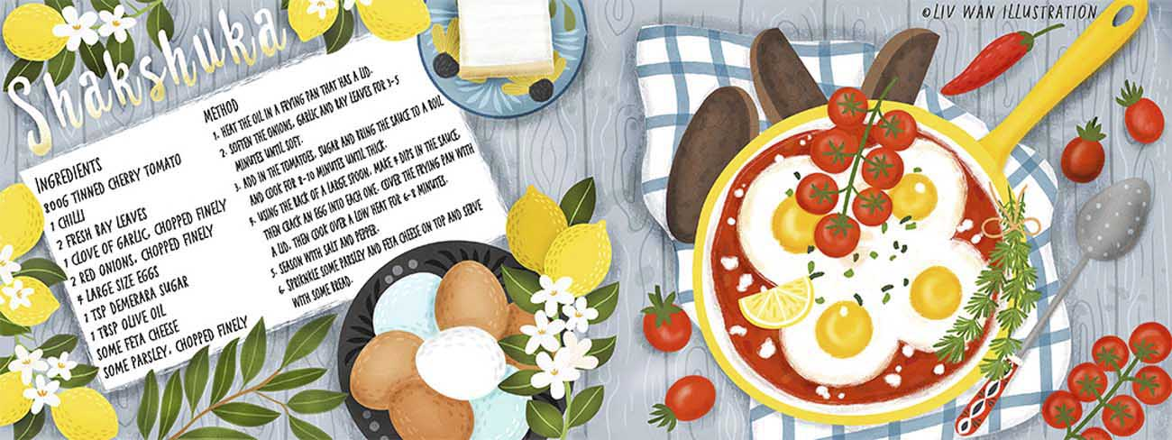 shakshuka recipe illustration