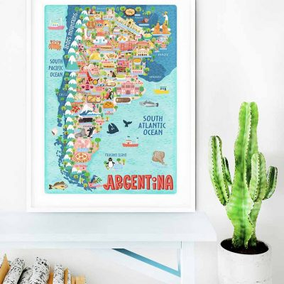 argentina map illustration