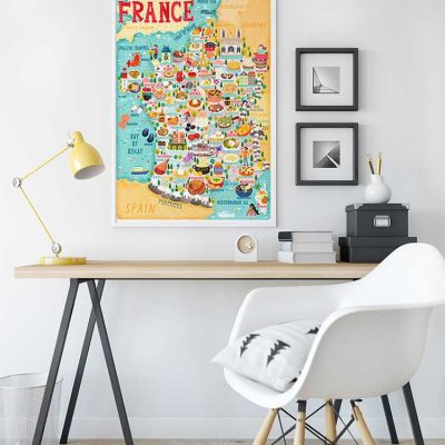 france illustrated map