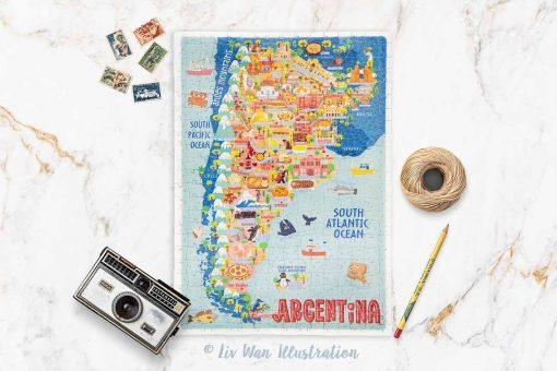 argentina map jigsaw