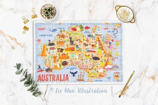 australia map jigsaw