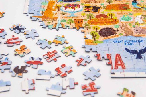 australia map jigsaw puzzle