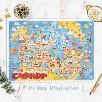 canada map jigsaw