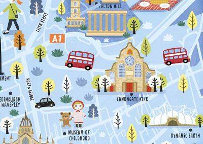 edinburgh map detail