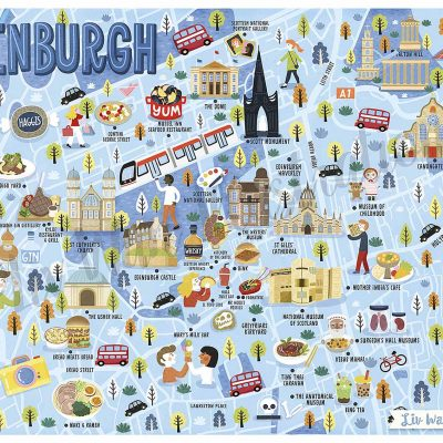 edinburgh map illustration