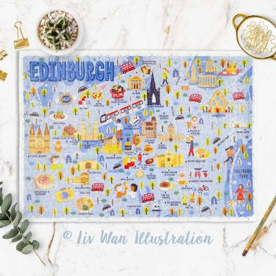 edinburgh map jigsaw