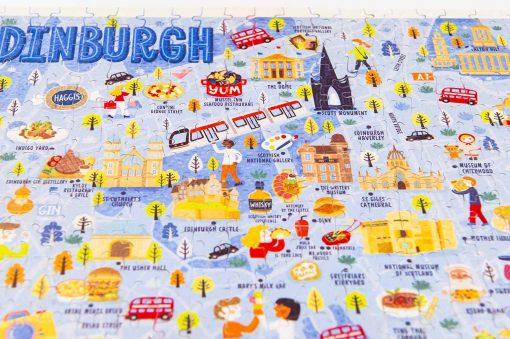 edinburgh map jigsaw puzzle