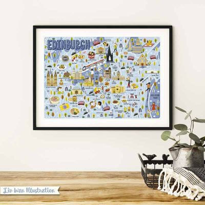 edinburgh map poster
