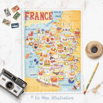france map jigsaw