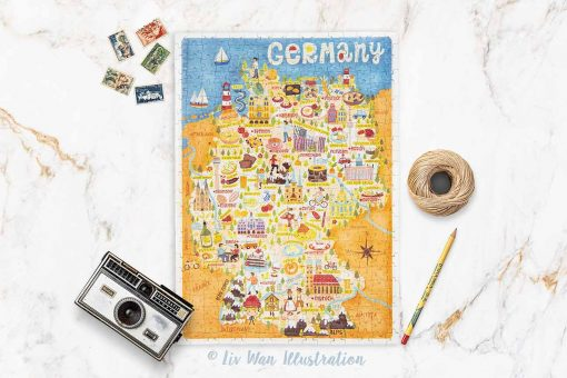 germany map jigsaw
