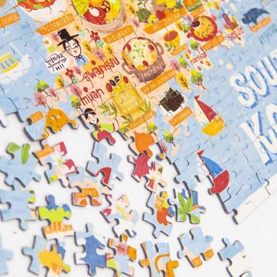 south korea map jigsaw puzzle