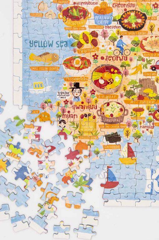 south korea map jigsaw puzzle