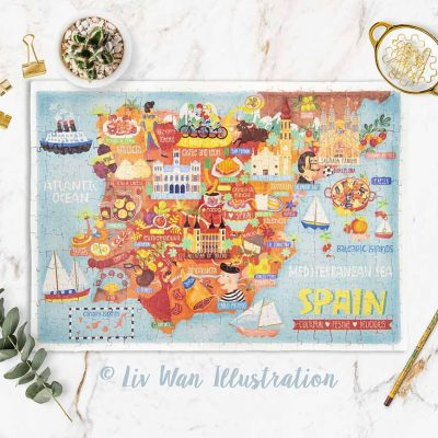 spain map jigsaw