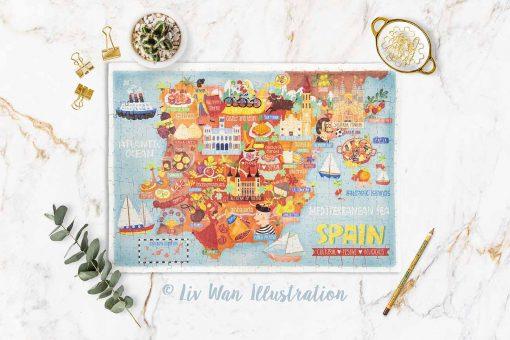 spain map jigsaw