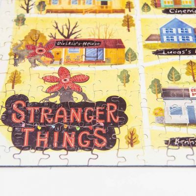 stranger thing map jigsaw puzzle