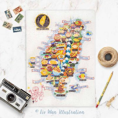 taiwan street food map jigsaw